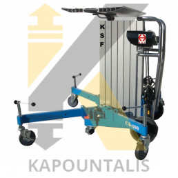 Electric material & glass lifter CA-400P 150kg,4000mm stroke
