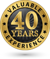 More than 40 years<br/> of experience